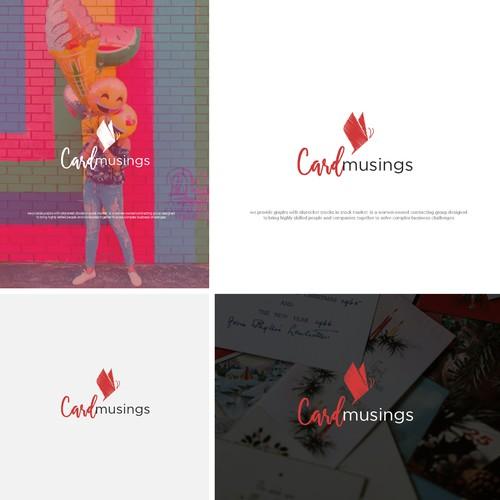 Card Musings, stunning greeting cards logo design