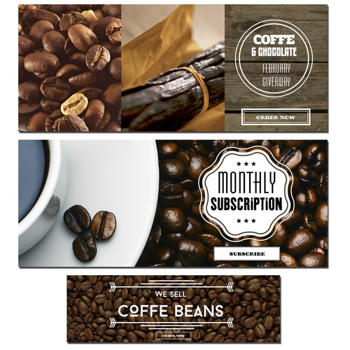 Website banners for Coffee Warehouse
