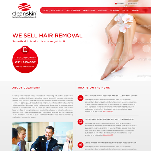 Cleanskin.de Redesign