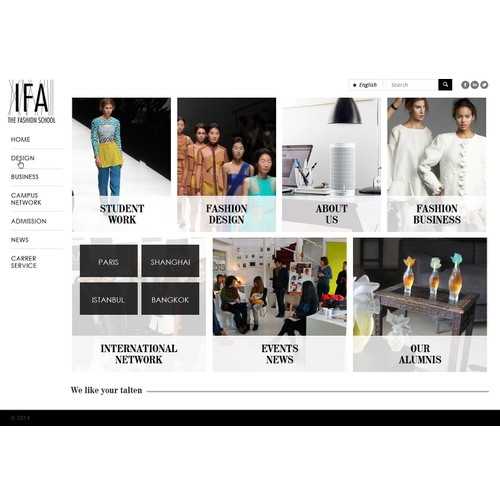 Designing the website of a Fashion School