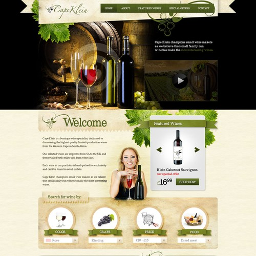 Create the next website design for Cape Klein