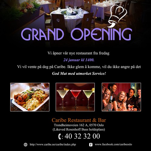 Design our Flyer for opening