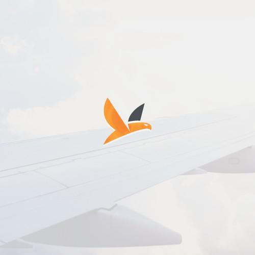 Minimal aviation logo
