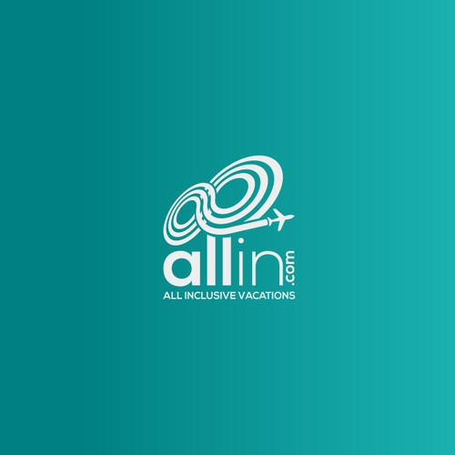 Logo for a travel company ALLIN