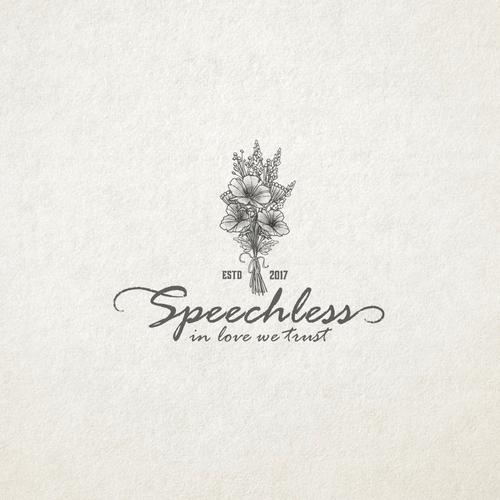 Logo concept design for Speechless bouquet maker