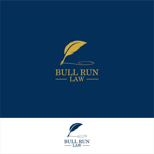 Quill Logo Concept For Bull Run Law