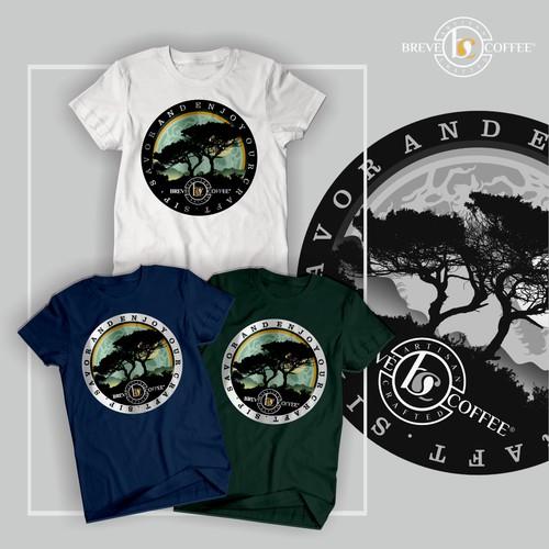 breve coffee tshirt design
