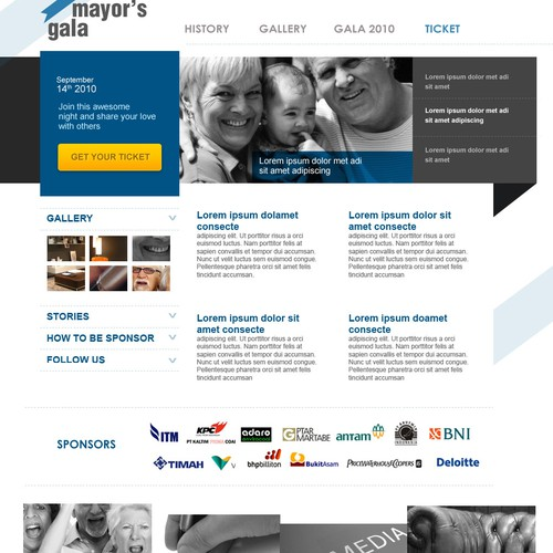 Create a classy, clean website for a fantastic charity event