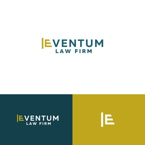 Bold modern logo for a law firm
