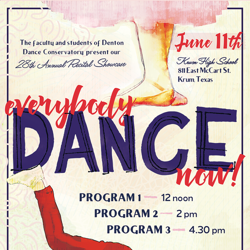 Everybody Dance Now! Recital Poster