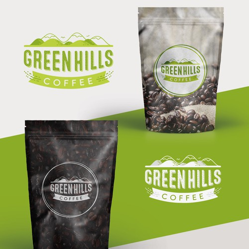 Logo concept for Green Hills Coffee