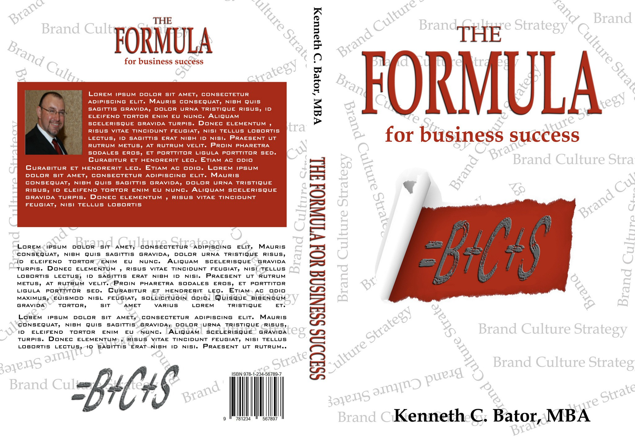 Create a book cover for my first book that says both business and fun