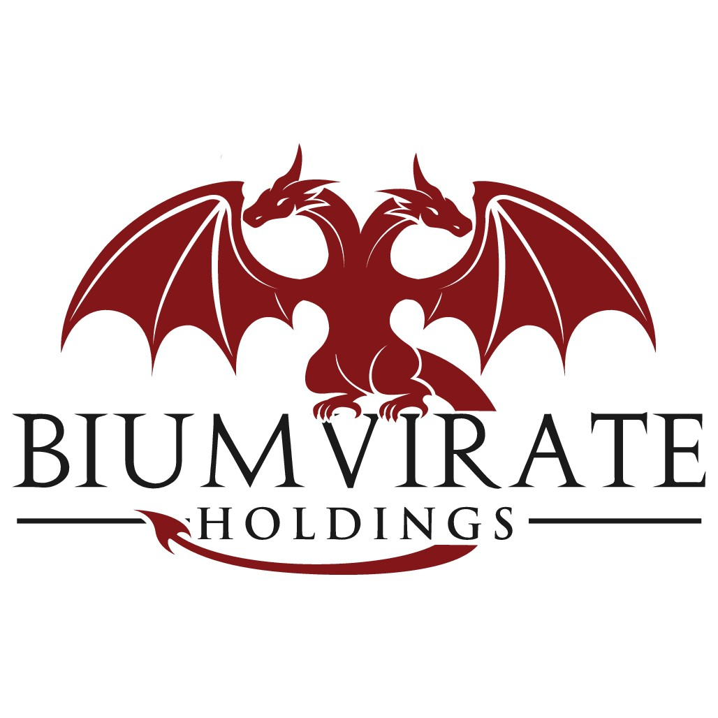 Design a Double Headed Dragon Logo for our company Biumvirate Holdings