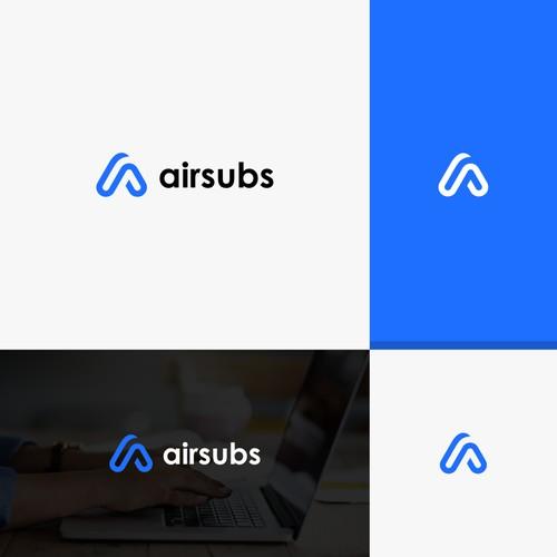 Simple, clean logo design for AirSubs.com