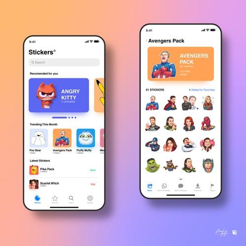 Sticker App UI Design