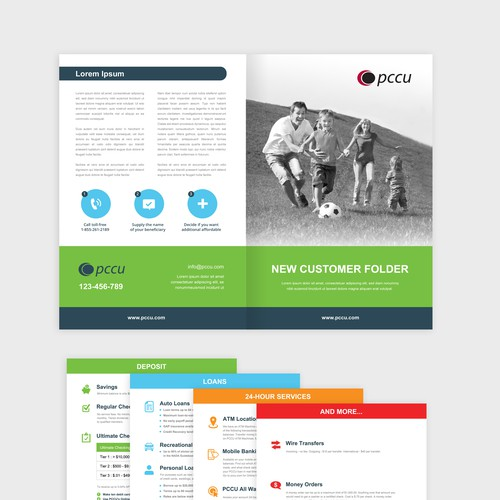 Design a New Customer Folder for PCCU