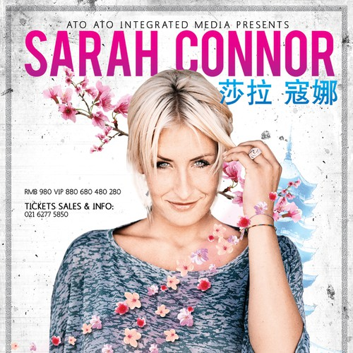 Poster Design for International Superstar Sarah Connor in China CONCERT!