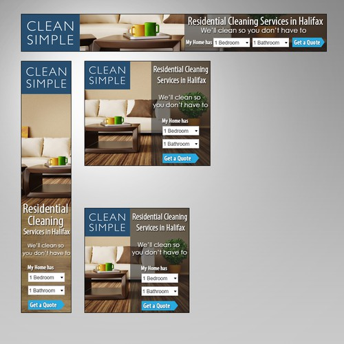 Clean Simple Display Ads