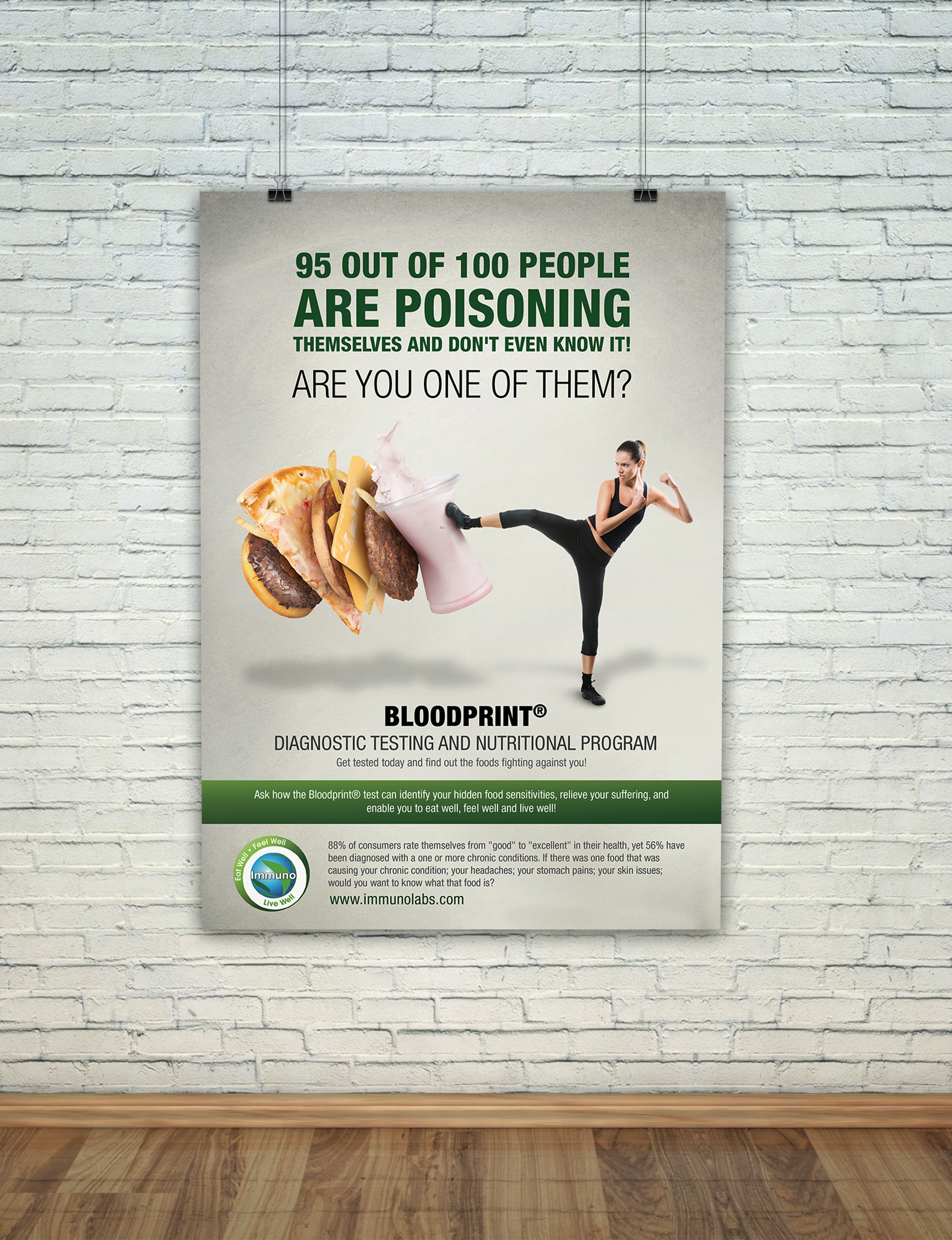 Poster for medical lab to educate people about food sensitivities
