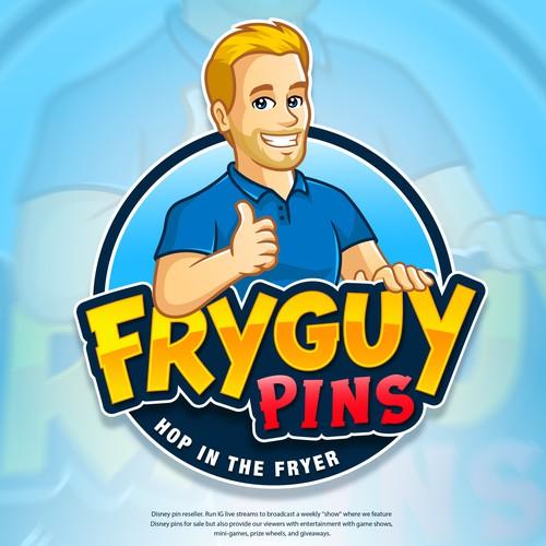 Logo FryGuy Pins