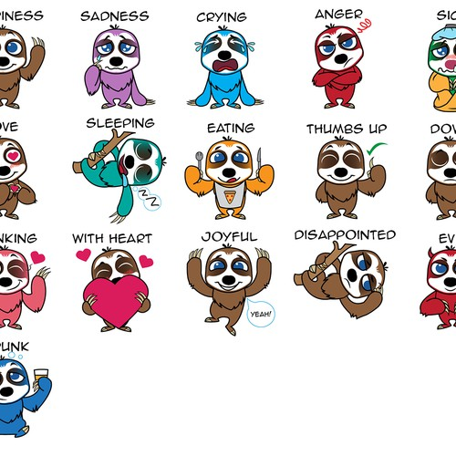 Sloth Emoji Stickers