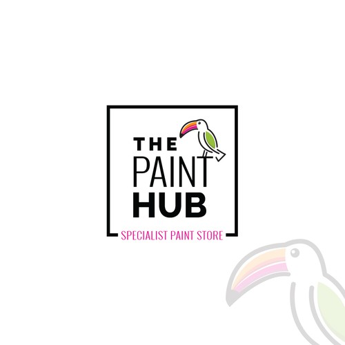 Logo for a new state of the art, funky paint shop
