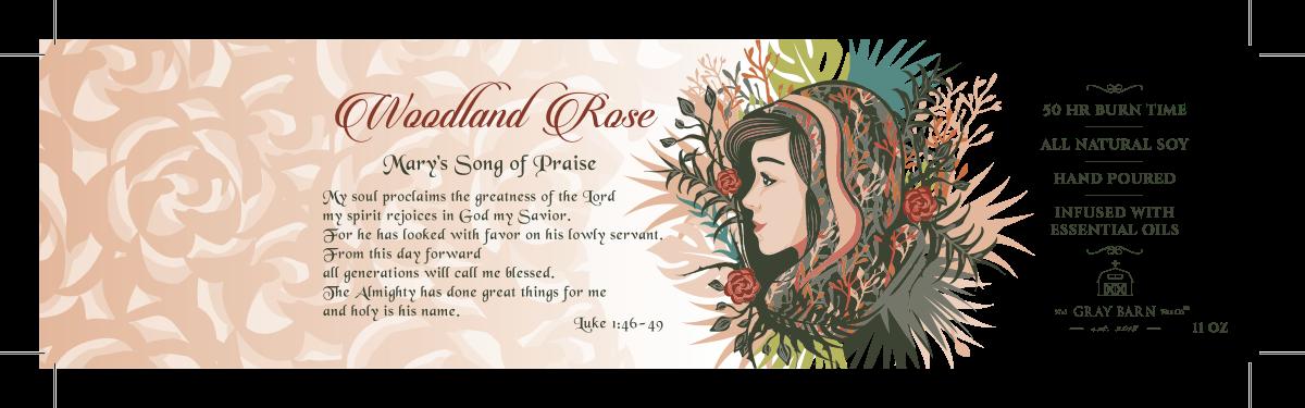 Woodland Rose Label floral update