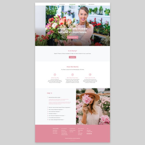 Flower network web design