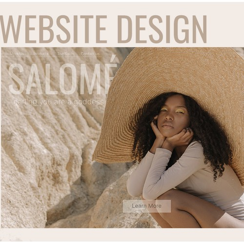 Salome Website UX/UI Design and Research