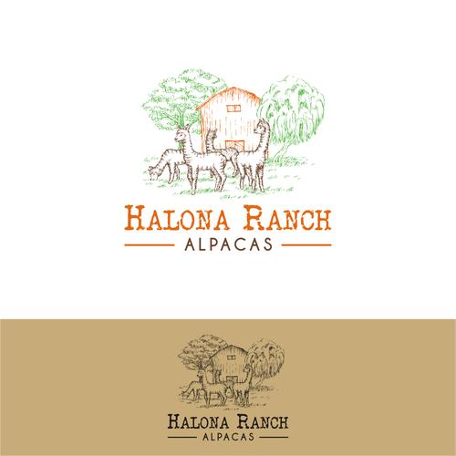 Illustrative logo for an alpaca ranch