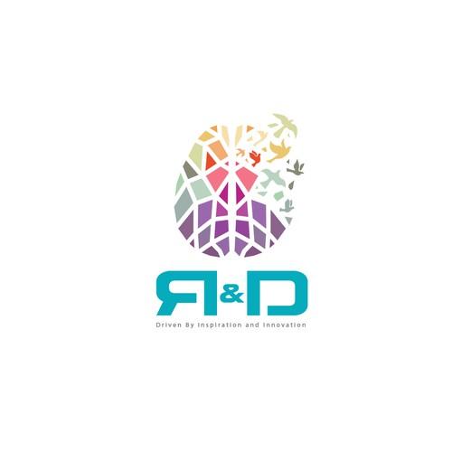Modern logo for R&D