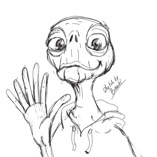 alien mascot