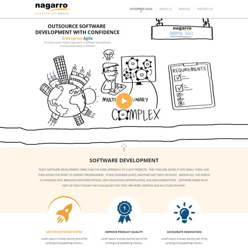 Captivating Landing Page Design for a Software Development Company