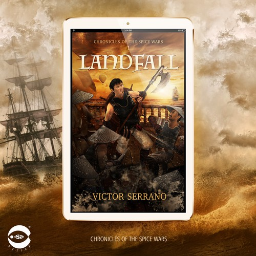 "eBook cover for ""Landfall"" by Victor Serrano"