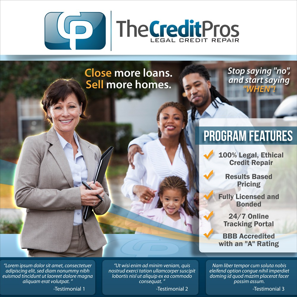 *RUSH JOB* Create a Popup Display for The Credit Pros