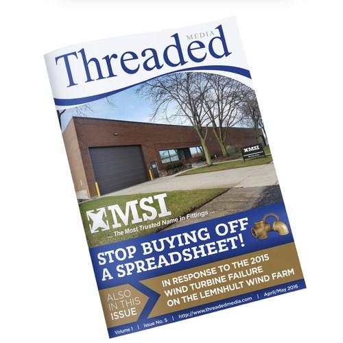 Online Magazine cover design for Threaded Media