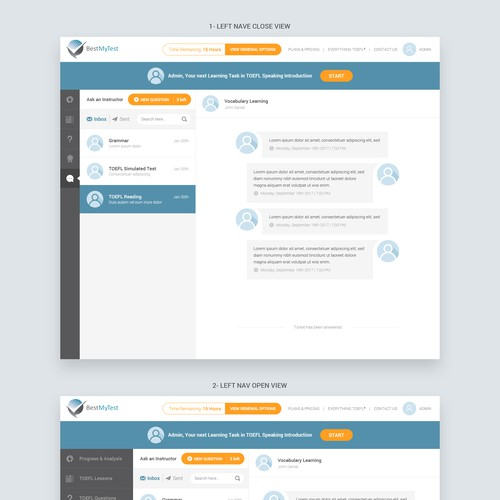 Redesign web page for a unique and new look application look