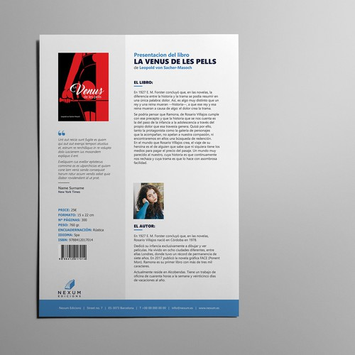 Word document to be used as a template of commercial info for every new book release