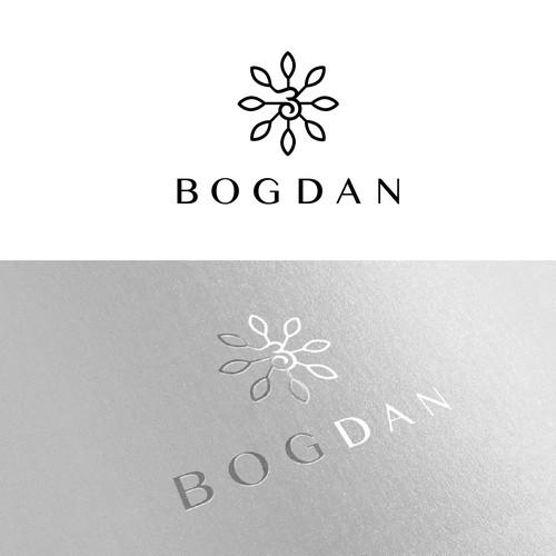 A minimalistic logo for a high end, essential oils perfume