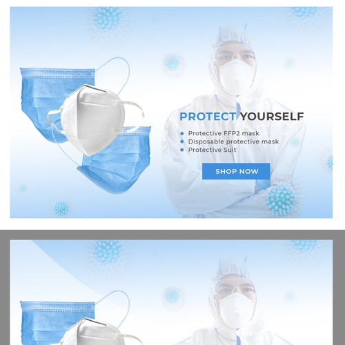Banner needed for Protective Mask shop against the Corona Virus