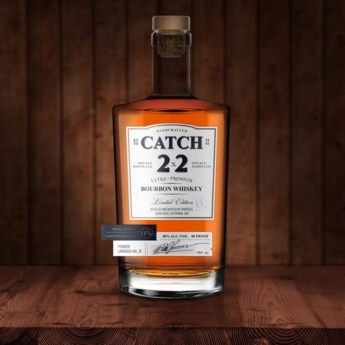 Bourbon Whiskey label design