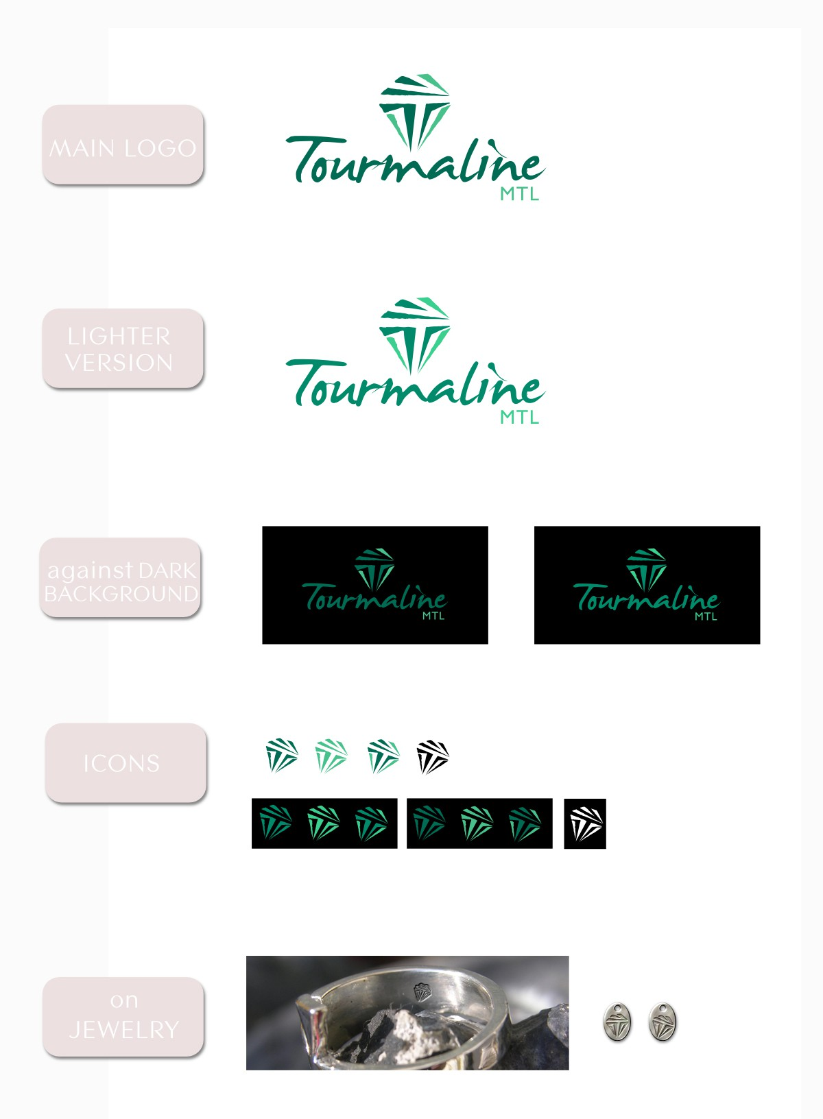 Create the next logo for Tourmaline MTL, jewelry studio in Montreal