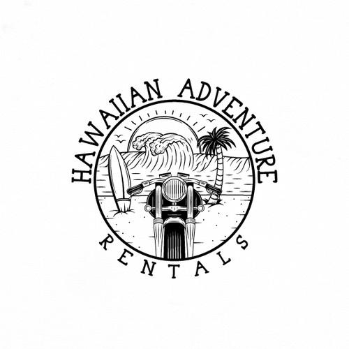 Logo for Hawaii rental company.