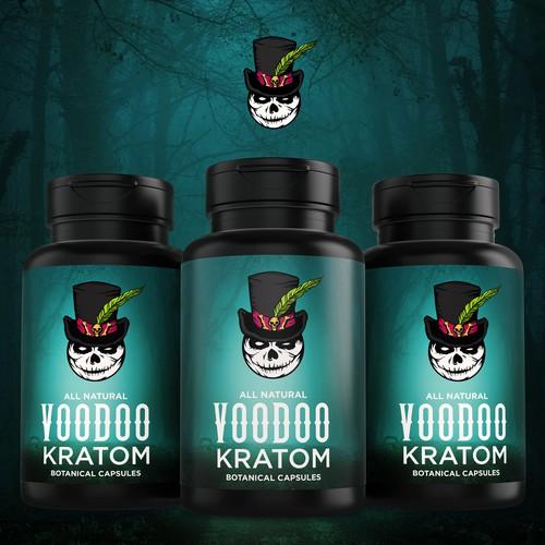 Voodoo Kratom label design