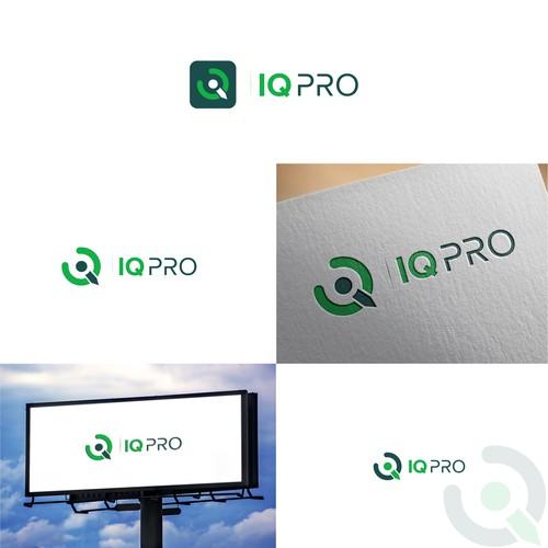 Creative logo concept for IQ PRO
