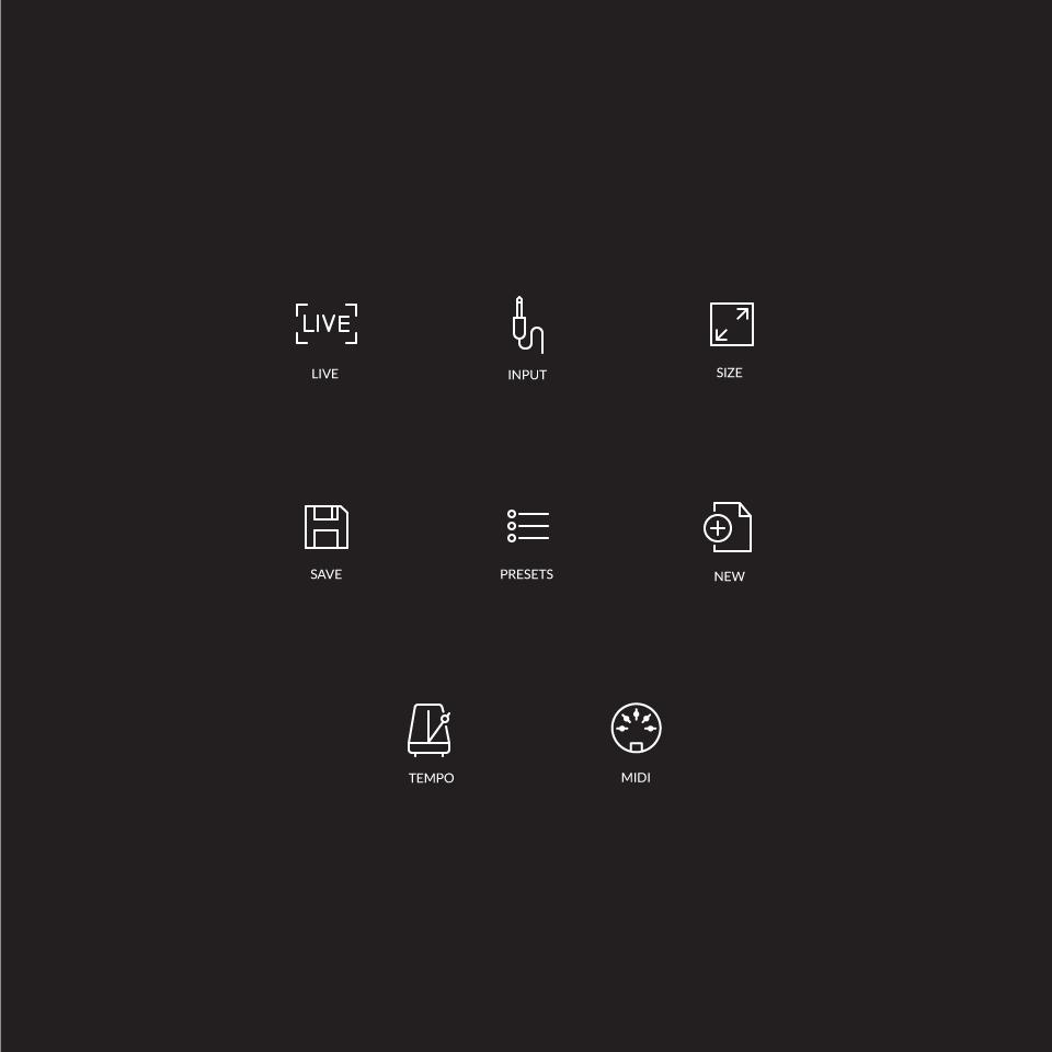 Icons for Guitar Tone Audio Plugin