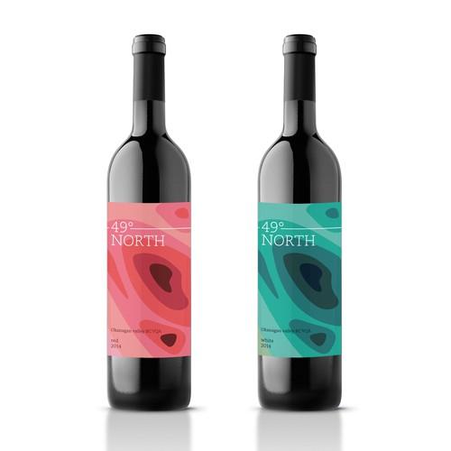 Wine label for 49° North