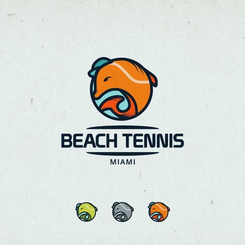 dolphin tennis beach icon