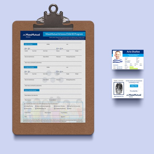 Easy to Edit/Print Child ID & corresponding Info Sheet