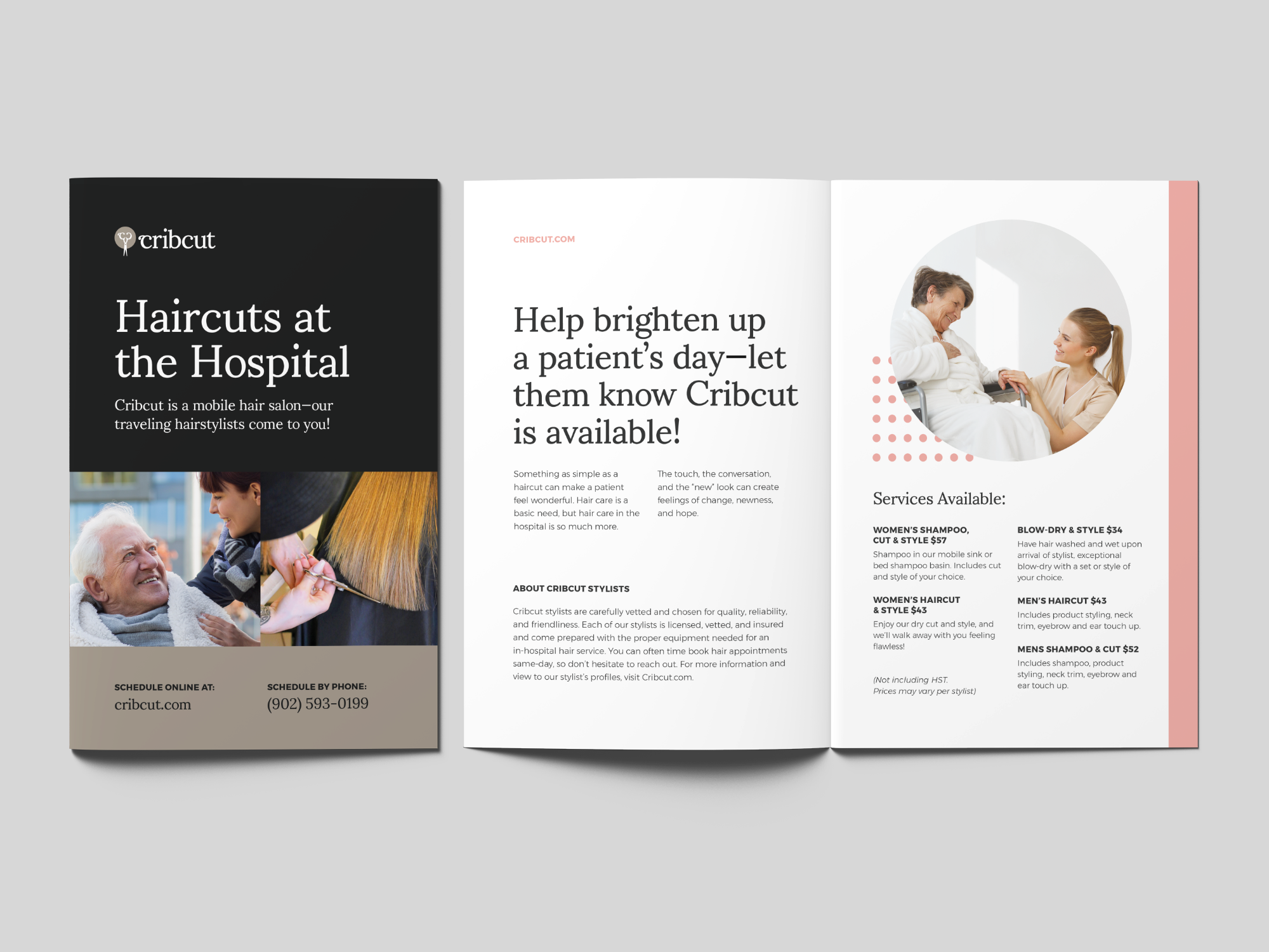 Cribcut Hospital Brochure Redesign (Bi-fold)